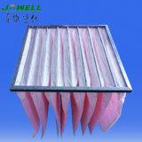 Filtri a sacco della holding della polvere del sistema di ventilazione del condizionamento d'aria per industria