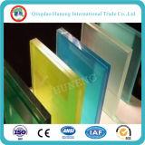 verre feuilleté bleu de la couleur PVB de 6.38mm pour la décoration