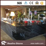 Precio bajo China Antique Black Wooden Marble Slab