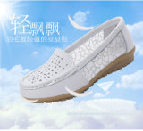 Witte Dame Leather Nurses Shoes