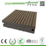 plancher extérieur bon marché d'étage composé en plastique en bois extérieur solide de Decking de 100*25mm