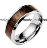 La boucle en bois marquetée d'acier inoxydable commémorent la boucle de bijou (SSR2708)