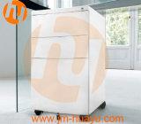 Ficheiro móvel com parte dianteira da gaveta/mobília escritório curvadas do metal