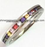 De hete Verkopende MultiRing van de Vinger van de Juwelen van de Stenen van Kleuren (CZR2557)