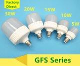 5With10With15With20With30W indicatore luminoso dell'alluminio LED/lampadina di plastica con E27/B22