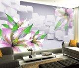 Crear el papel pintado de gran tamaño de las flores para requisitos particulares del fondo del sofá de la sala de estar