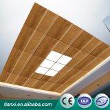 2017plastic木製の穀物の天井板のレストランの天井の装飾の設計