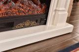 現代簡単なLEDはつける白い暖房の電気暖炉(342)を