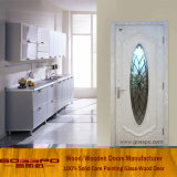 Porta interior de madeira branca do quarto do vidro Tempered da pintura (GSP3-047)