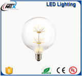 Birne des MTX S02 3W E27 220V dekorative Weinleseedison-Glühlampe-GlasdiamantWeihnachtsbaum-Stern-LED