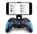 Tipo de joystick do controlador de jogo sem fio Android com vibração dupla