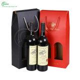 Papel Profesional impresión personalizada Cajas de empaquetado del vino / regalo / té (KG-PX089)