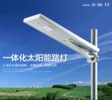 Fábrica 15W todo de Guangzhou em uma luz de rua solar