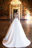 Kara eine Zeile mehrschichtige Hochzeits-Kleider mit dem Fishbone