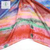 Neueste koreanische Entwurfs-Blume gedruckte Strand-Schal-Dame Fashion Silk Scarf