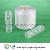 Bons fils 100% de polyesters des prix 40s/2 de la Chine pour le tissu
