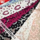 Tessuto di nylon del merletto della geometria del cotone per il vestito