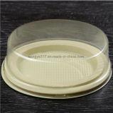 Kleiner heller Käsekuchen, transparentes Pudding-Gelee, geglühter West Point-Kasten