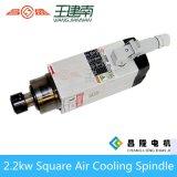 Motor cuadrado del eje de rotación del ranurador del CNC de la refrigeración por aire de Er25 2.2kw para la talla de madera