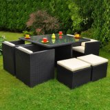 Elegant Outdoor Leisure Garden Furniture Wicker Rattan Dining Chair Counts Set