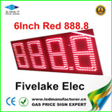 индикация знака изменителя газовой цены 6inch СИД (NL-TT15F-2R-DR-4D-RED)