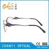 Blocco per grafici di titanio di vetro ottici di Eyewear del monocolo dell'ultimo Pieno-Blocco per grafici di disegno per la donna (9320)