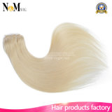Grampo principal cheio no grampo branco louro o mais leve das extensões 140g 180g 220g 260g do cabelo na extensão do cabelo