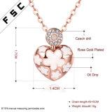 Met de hand gemaakte de manier nam de Gouden Halsband van de Tegenhanger van het Hart met Kristal toe