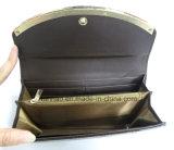 Pochette de PU de modèle de bâti en métal de mode de Madame