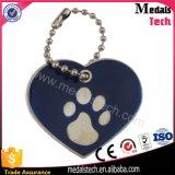 Varia etiqueta de perro anodizada del metal del espacio en blanco de la dimensión de una variable de aluminio del corazón