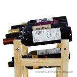 La position libre pratique de crémaillère d'étalage de vin en bois 20-Bottle met l'étagère en bouteille de mémoire