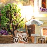 Beau Dollhouse en bois fabriqué à la main populaire du jouet DIY