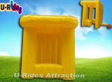 광고를 위한 노란 팽창식 부스 천막