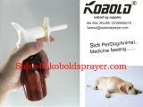 Tête de jet alimentante médicale animale de pulvérisateur de déclenchement d'animal familier
