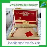 Verpakkende Doos van Mooncake van de Verpakking van de Gift van de Gunst van het Lint van de douane de Buitensporige