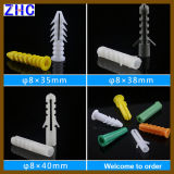 6mm 8mm 10mm PE ou PP Plastic Material Expand Nail