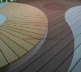 Frontière de sécurité anti-mites extérieure de Brown du composé en plastique 137 en bois solide