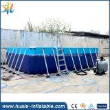 Bewegliches riesiges rechteckiges Metallrahmen-Pool-Stahlplastikschwimmen-Wasser-Pools