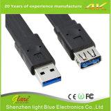Тип USB3.0 мужчина к женскому плоскому кабелю