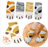 Greifer-EntwurfSweety der reizenden Katze populär für Kind-Tief-Schnitt-Socke