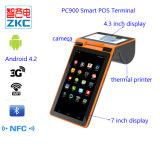 Máquina Handheld baseada Android do bilhete com o leitor de cartão de NFC