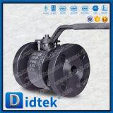 Vávula de bola dura de flotación del sello de la carrocería de dos piezas de la fractura de Didtek para la producción del petróleo y del gas