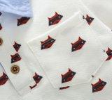 소년 의복 백색 폴로 t-셔츠 만화는 여름 착용을 인쇄했다