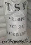 Único Tsp triplo granulado P2o5 46 do fertilizante do fosfato