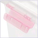 Crystal multifuncional de plástico caja de almacenamiento con mango