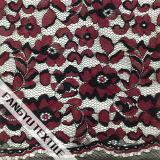 Tela de nylon do laço do algodão do projeto floral popular