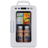 Mini refrigerador elegante 10liter, DC12V, AC100-240V com função refrigerando e de aquecimento