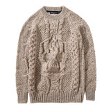 Hot Custom Covering Cardigan Color Jacquard Têxtil de malha Sweater of Man Dress