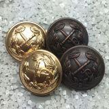 De goud Geplateerde Knoop van de Steel van het Metaal voor Militaire Knoop van het Messing van het Leger de Eenvormige