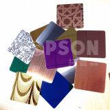 Hoja 201 304 316 color decorativo Chorreado de acero inoxidable